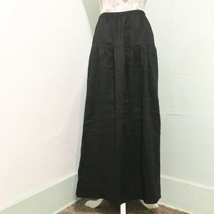 Reformation Black Tiered Maxi Skirt Size S